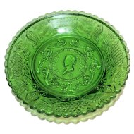 Henry Clay Cup Plate Westmoreland Green Glass