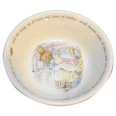 Wedgwood Mrs Tiggy Winkle Beatrix Potter Bowl 5 3/4 IN