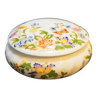 Aynsley Cottage Garden Round Trinket Box Bone China