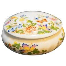 Aynsley Cottage Garden Round Trinket Box Bone China
