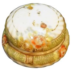 Hand Painted Nippon Small Dresser Trinket Box