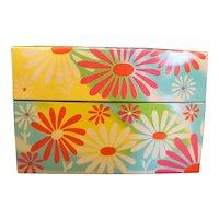 Syndicate Mfg Yellow Pink White Flowers Recipe Box Phoenixville