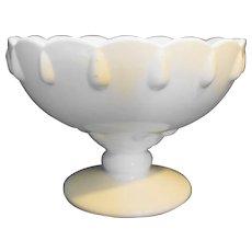 Indiana Milk Glass Teardrop Footed Centerpiece Bowl