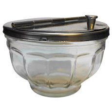 Restaurant Ware Diner Hinged Lid Clear Glass Paneled Sugar Bowl