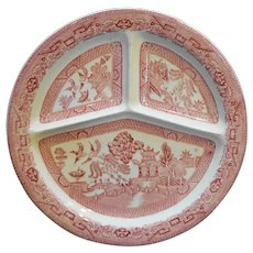Nelson Ware BCM Red Willow Divided Grill Plate England