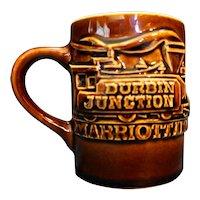 Hall Brown Mug Raised Train Durbin Junction Marriott Inn
