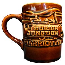 Hall Brown Mug Raised Train Durbin Junction Marriott Inn
