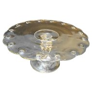Indiana Glass Teardrop Clear Cake Stand Pedestal