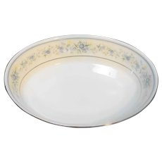 Noritake Contentment Oval Vegetable Bowl Blue Flowers