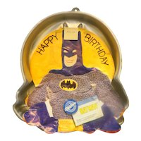 Wilton Bat Man Cake Pan 1989 With Insert