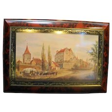 Henry Lambertz Large Cookie Tin Multicolor Bavarian Scenery Aachen Germany