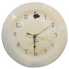 Fiestaware Clock White Dinner Plate Dancing Lady Genuine Fiesta