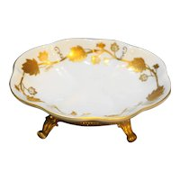 White Porcelain Gold Ormolu Footed Soap Dish