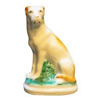 Staffordshire Porcelain Dog Terrier Figurine Unsigned