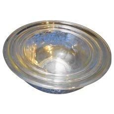 Pyrex Clear Blue Flowers Ribbon Mixing Bowl Set of 3 322 323 325 1L 1.5L 2.5L
