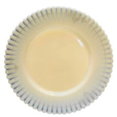 Ivrene Beige Petalware MacBeth Evans Salad Plate Gold Decoration