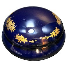 Samnium Limoges Kind Italy Cobalt Blue Gold Trinket Box