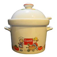 Campbell's Kids Westwood Soup Tureen With Ladle Vegetables 1996