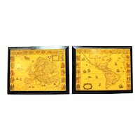 Old World Map Wall Plaques Decor