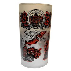 Federal Glass Wisconsin Souvenir Tumbler