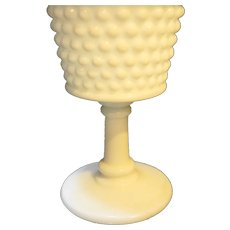 Westmoreland American Hobnail Water Goblet 6 1/4 IN Milk Glass