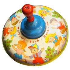 Ohio Art Spinning Toy Top Here We Go Round the Mulberry Bush