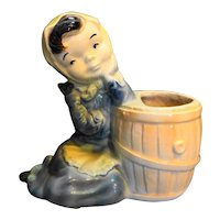 Royal Copley Spaulding Girl Rain Barrel Planter