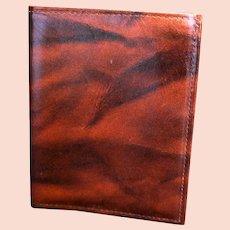 Sears Cowhide Wallet Men's Red Brown