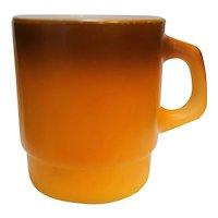 Fire King Brown Orange Fade Stacking Mug