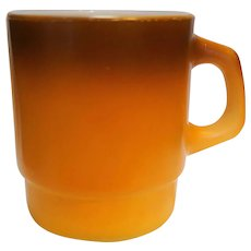 Fire King Brown Orange Fade Stacking Mug