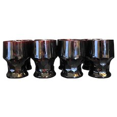 Royal Ruby Red Anchor Hocking Georgian 9 oz Flat Tumblers Set of 8