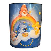 Care Bears Cheinco Metal Wastebasket 1983