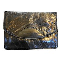 Black Eelskin Clutch Purse