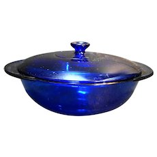 Anchor Hocking Essentials Cobalt Blue 2 Qt Covered Casserole