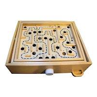 Wood Labyrinth Game Lash-Tamaron Made in Taiwan In Box