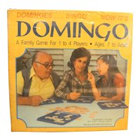 Domingo Dominoes Bingo Game New Sealed Whitman Western Publishing 1982