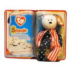 Ty Beanie Baby Spangle The Bear International Bears II McDonald's New in Box