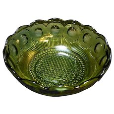 Bartlett Collins Manhattan Avocado Olive Green Serving Bowl 8 1/2 IN
