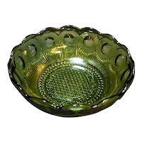 Bartlett Collins St Genevieve Avocado Olive Green Serving Bowl 8 1/2 IN