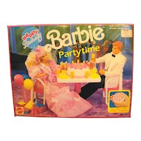 Barbie Party Time Happy Birthday Play Set 7552 1990