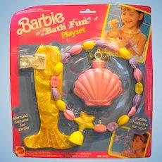 Barbie Bath Fun Play Set Bubble Necklace 7569 1991
