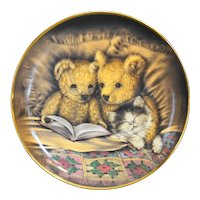 Franklin Mint A Bedtime Story Teddy Bears Collector Plate