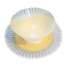 Ivrene Beige Petalware MacBeth Evans Sherbet Bread Plate