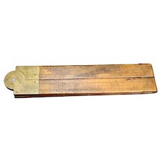 Stanley Rule & Level Co Folding Wooden Carpenter's Rule
