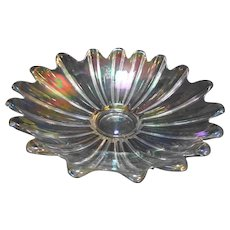 Federal Glass Celestial Clear Iridescent 11 IN Bowl