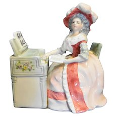 Schmid 435 Porcelain Figurine Music Box Mozart's Lullaby