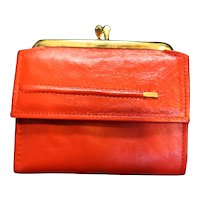 Amity Cowhide Leather Red Ladies Wallet Coin Purse
