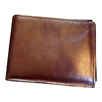 Manhattan Calfskin Leather Bifold Men's Wallet New