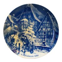 Berlin Design W Germany Christmas Eve in Mittenberg Genuine Blue China 1980