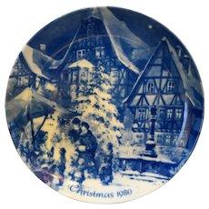Berlin Design W Germany Christmas Eve in Mittenberg Genuine Blue China 1980